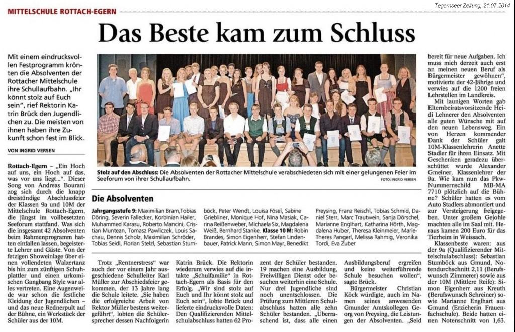 Abschlussfeier,Teg.Zeitg.,21.07.2014